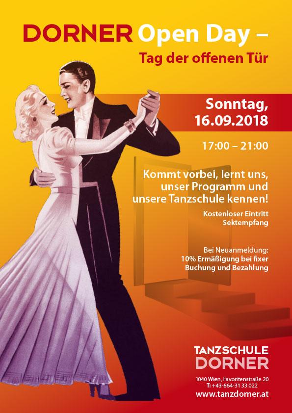 Tanzschule Dorner - Open Day Event - tag der offenen Tür 16.09.2018