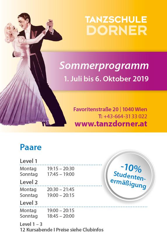 Sommerprogramm 1.Juli bis 6. Oktober 2019
